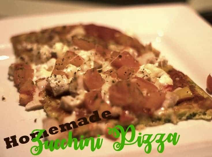 Homemade Zucchini Pizza crust