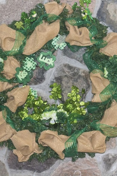 St Patrick's Day Decorations with a Wreath