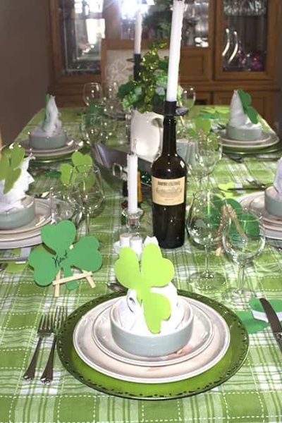 St Patrick's Day Table for 2018
