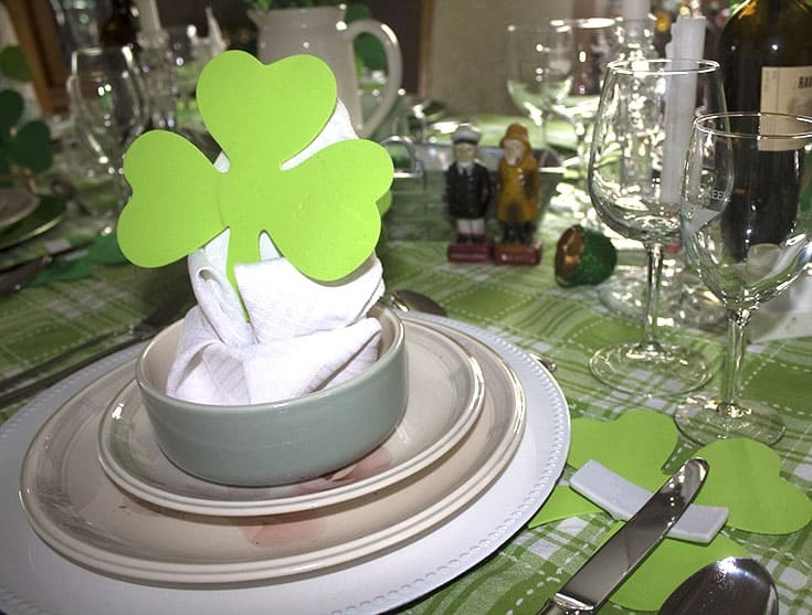 St Patrick's Day Table in green