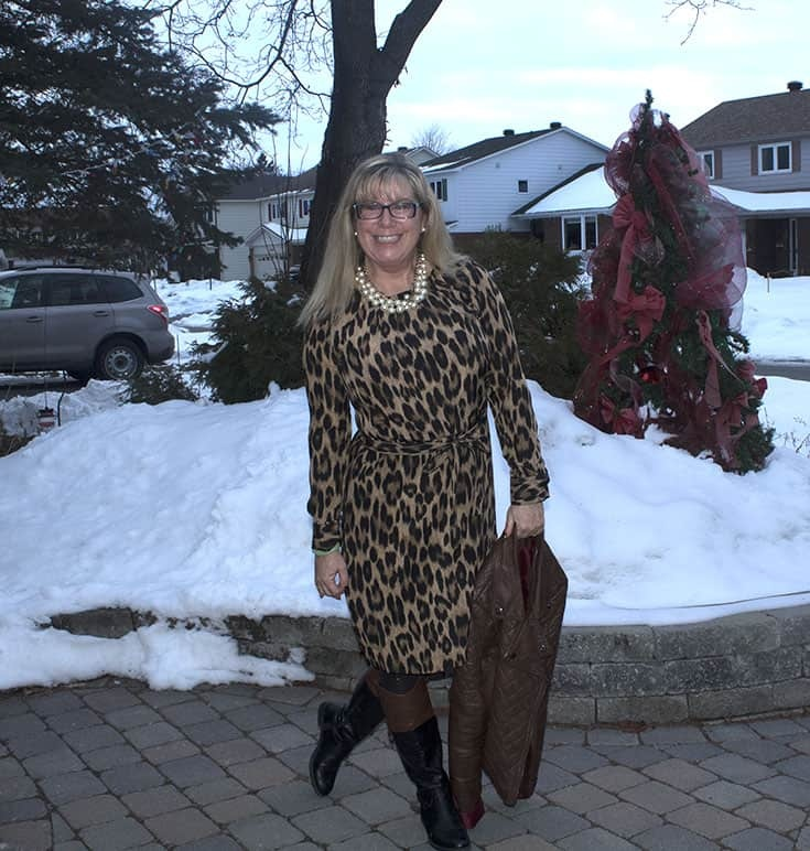 Fun with Fashion in a leopard dress
