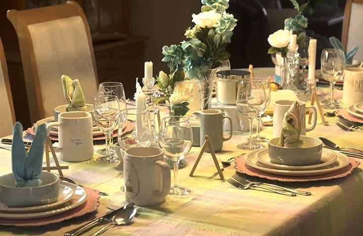 Rae Dunn inspired Easter Table