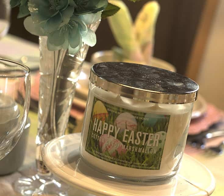 happy easter candle from Bath and body works