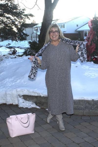 Eva Trends Side Slit Knitted Dress