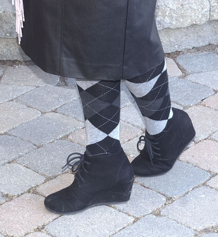 sketcher wedges and argyle tights