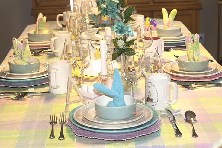 bunny easter table