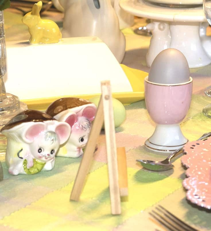 Easter pastel egg cups