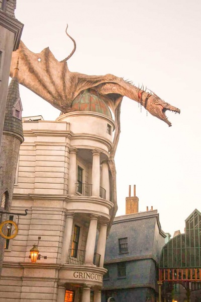 Gringott's and the Fire Breathing Dragon