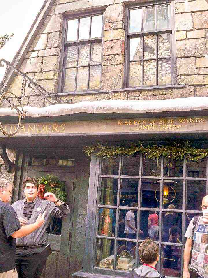 waiting to get into Ollivanders