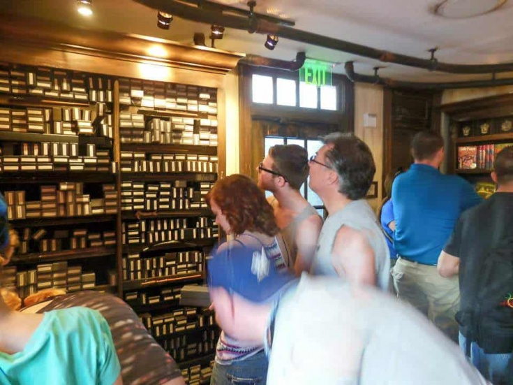 picking a wand at Ollivanders