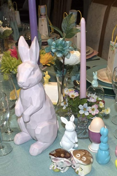 Easter Table Setting for Some Bunny