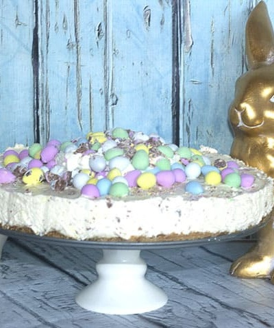 No Bake Eggie Cheesecake