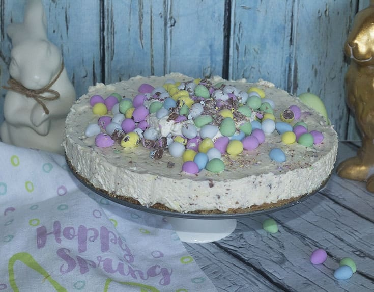pretty easter cheesecake