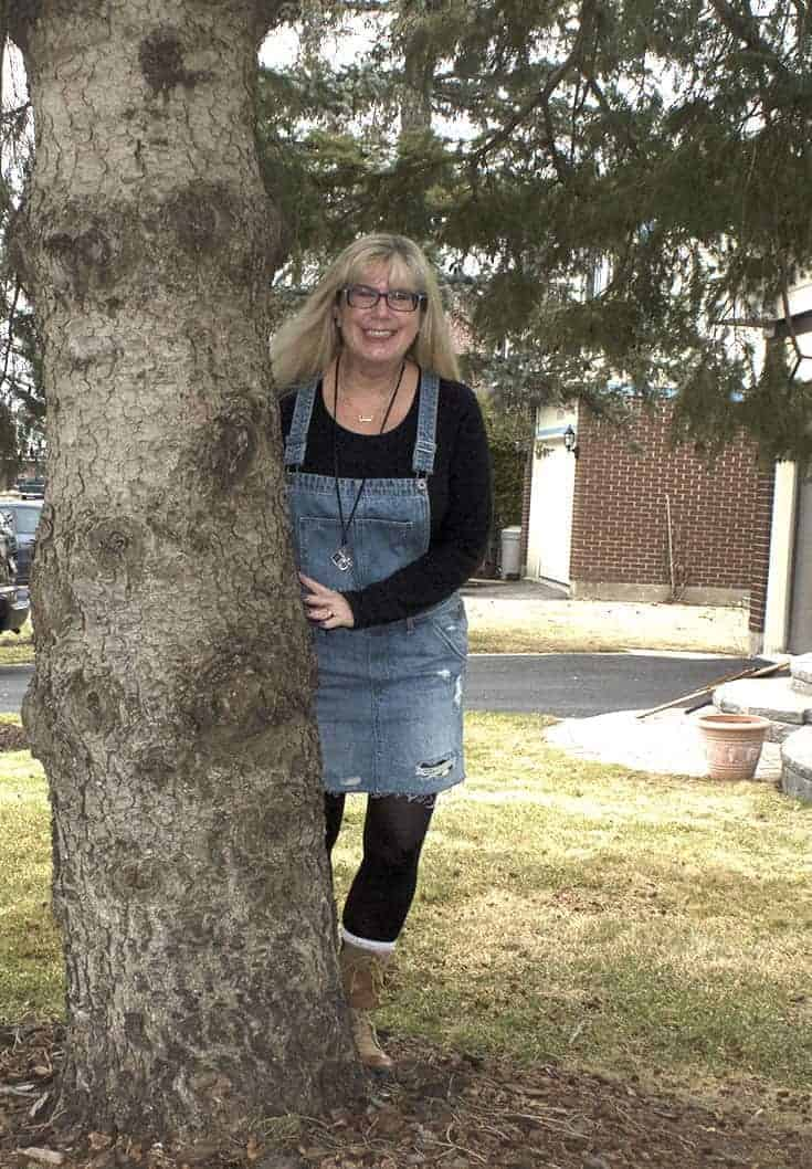 Denim bib overall dress and fun boots