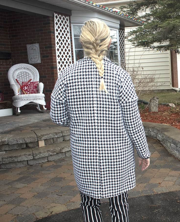 french braid and houndstooth