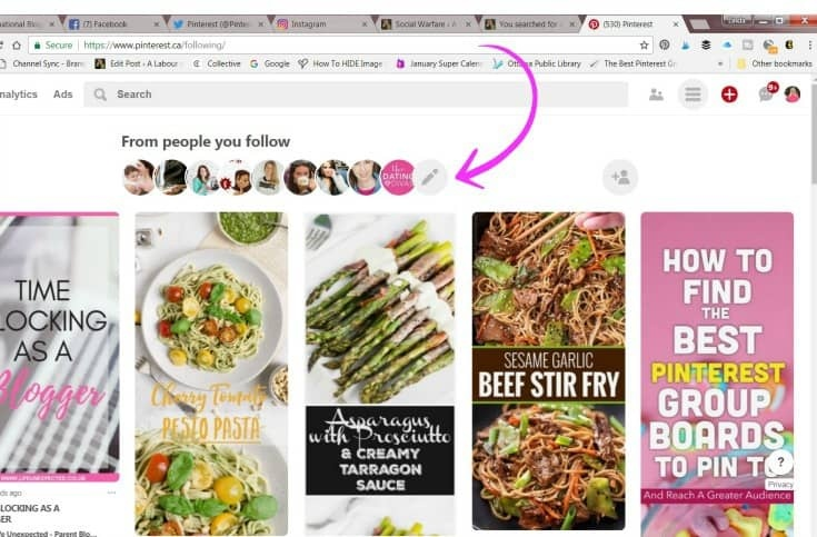 Pinterest feed of your followers