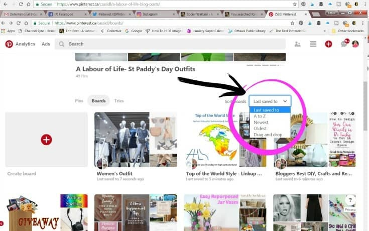 Organizing your Pinterest boards