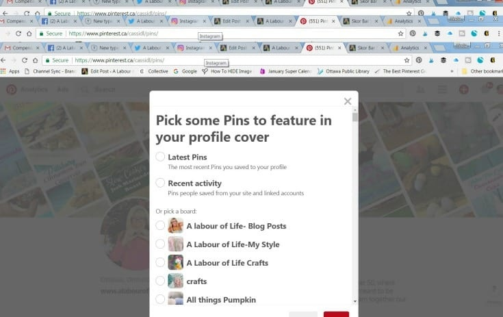 Pinterest Covers personalized