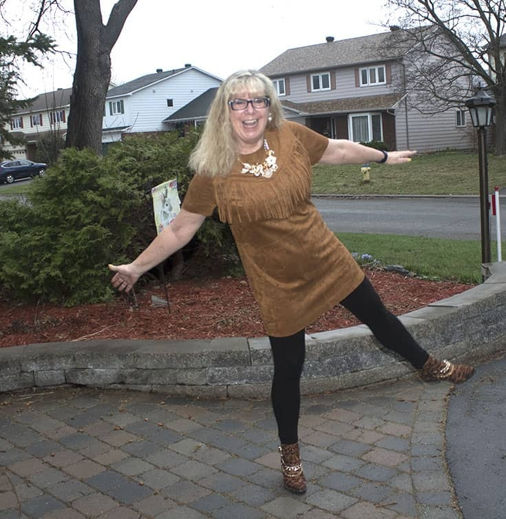 Fringe tunic from Forever 21, bamboo leggings and Shoe Dazzle leopard boots 3