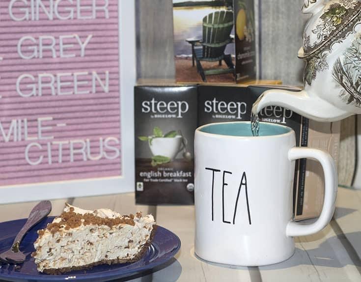steep tea and dessert