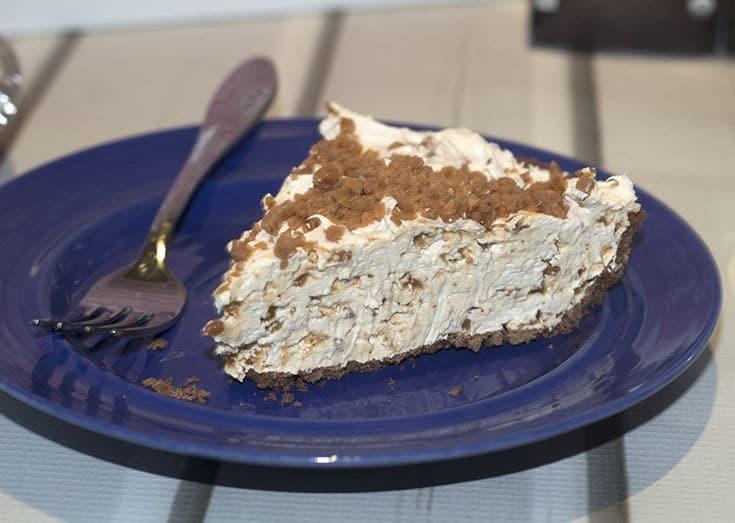 lemon ginger skor cheesecake dessert