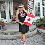 Canada Rocks black sun dress