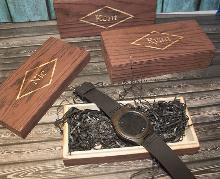I've Got You engraved on a wood watch for The Honest Heart Collective