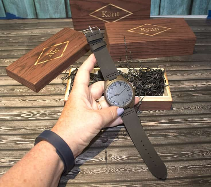 I've Got You engraved on a wood watch for The Honest Heart Collective 3