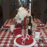 Canada Day celebrations at the dinner table