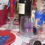 red white and Blue tablescapes