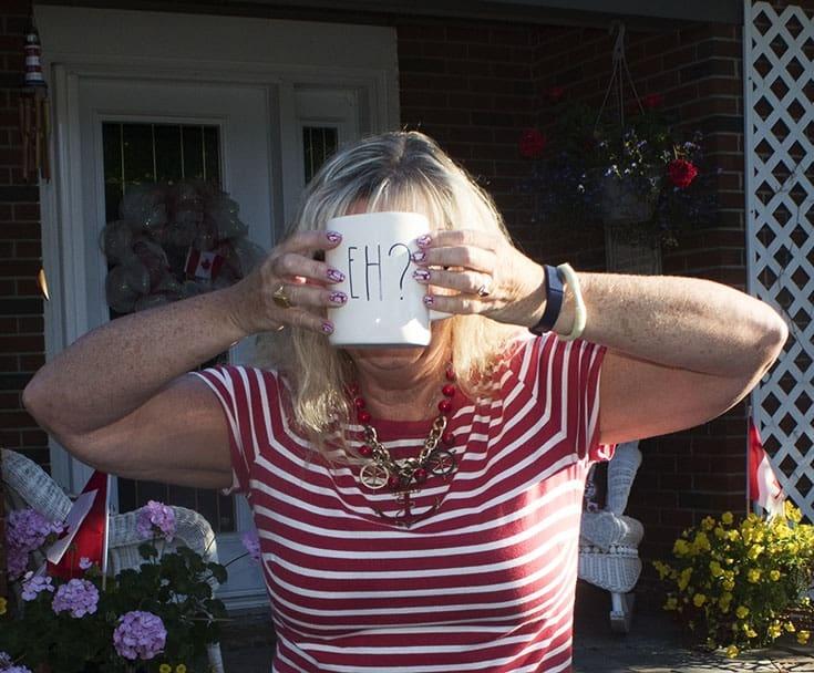 rae dunn Canada Day mug
