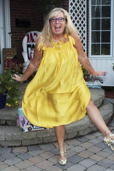 H&M Yellow Sundress and Lemon Shoes