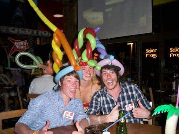 tequila parties at Senor Frogs
