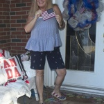 peplum and anchors for a Patriotic look for Independence day