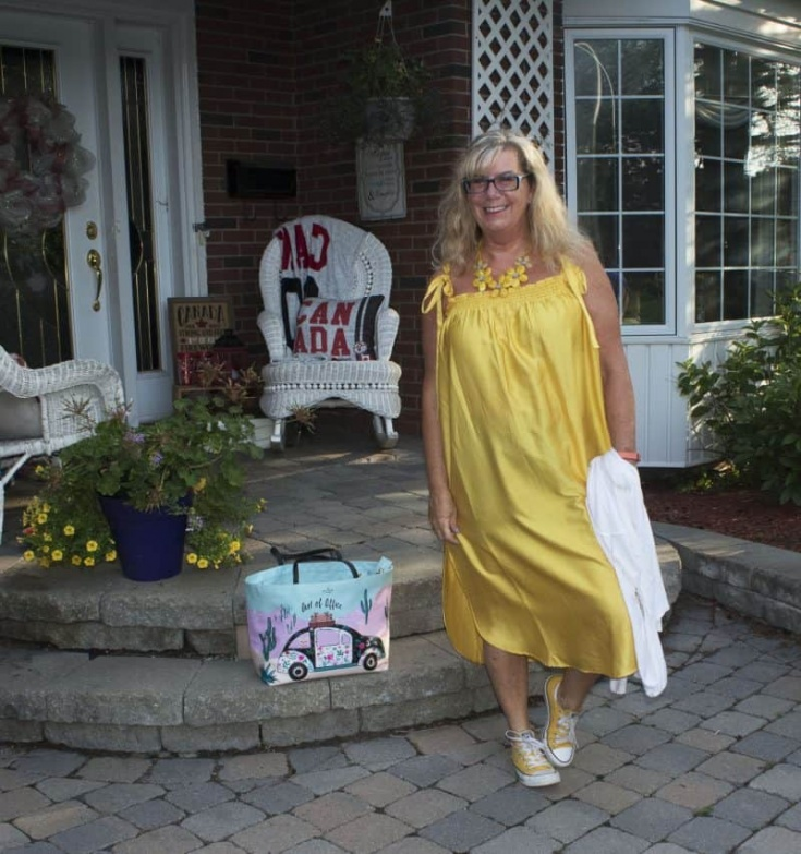Yellow sundress from H&M and fun yellow converse and a Kate Spade Tote