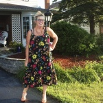 H&M Floral sundress and shoe dazzle heels
