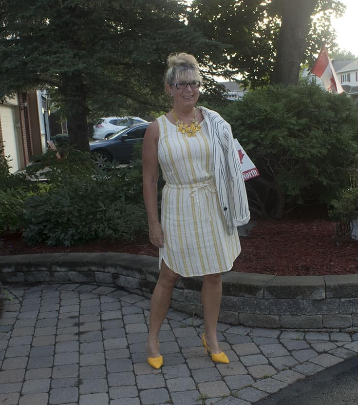 linen dress and blazer from Old Navy