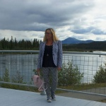 Target Gingham suit and the Yukon River