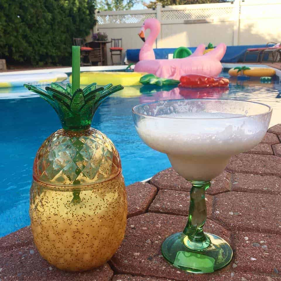 margaritas by the pool
