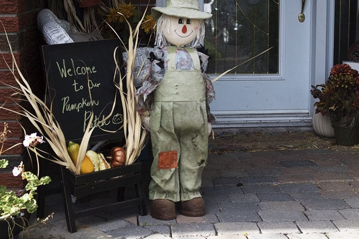 scarecrow and easel
