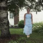 Old Navy baby blue eyelet maxi dress
