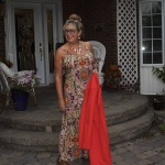 Target orange and teal sundress with a Shein Blazer