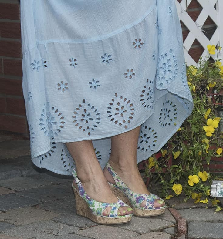 floral shoes by george
