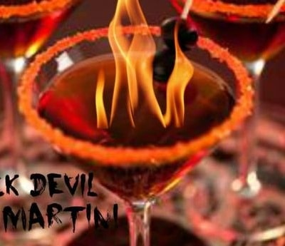 Halloween Cocktails- The Black Devil Martini