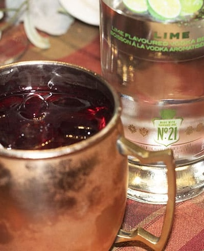Cranberry Lime Vodka Moscow Mule