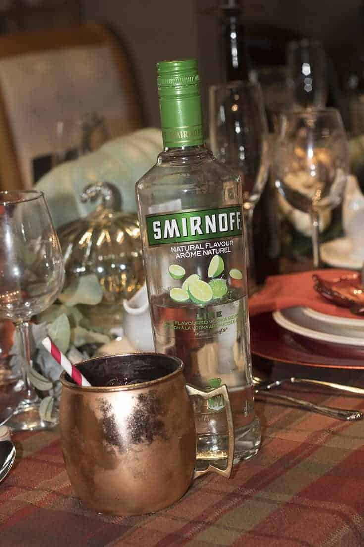 lime vodka and copper mug