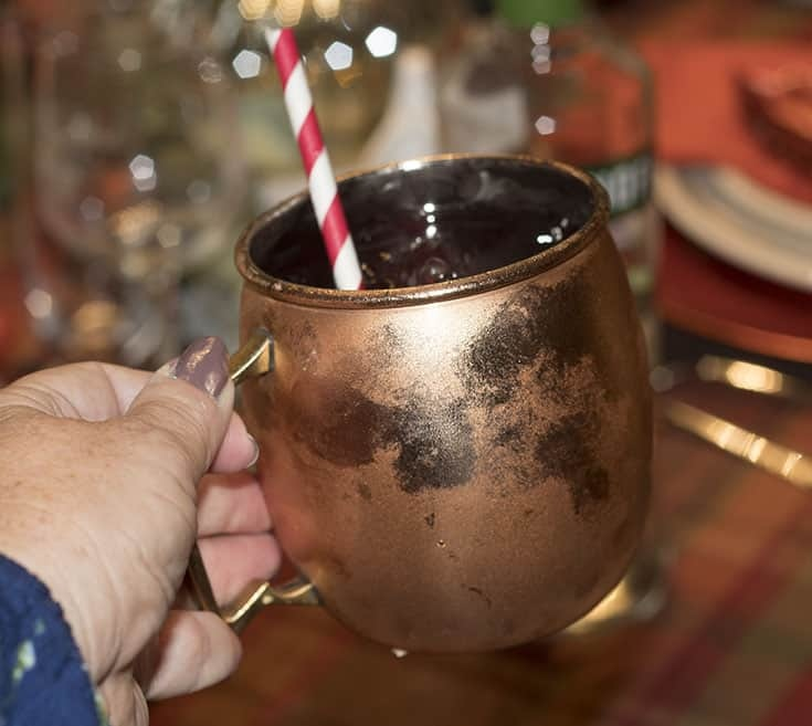 Mezcal Drinks in a mosco mule cup