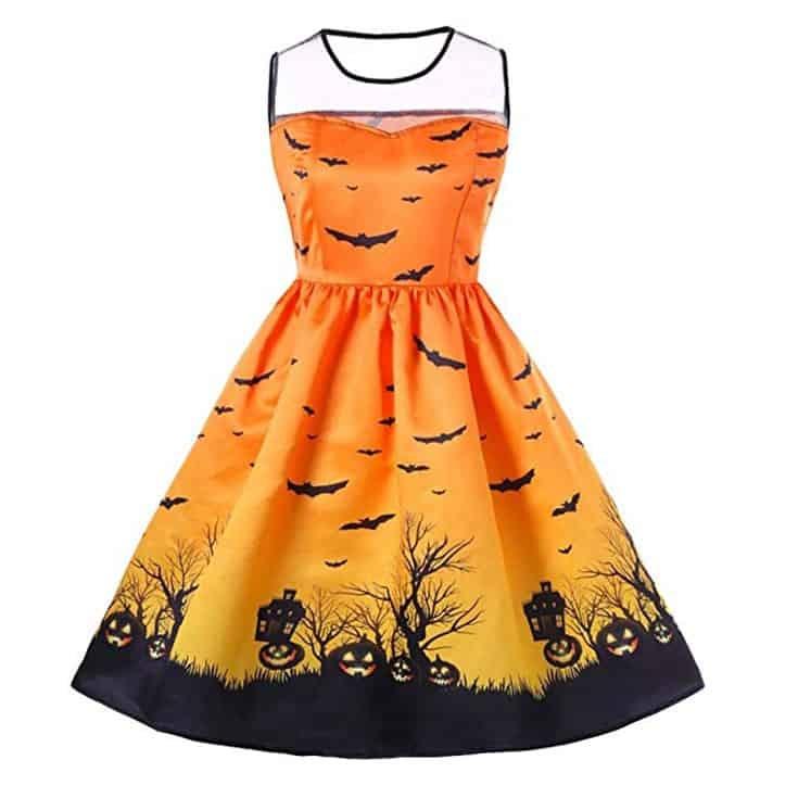 orange halloween dress