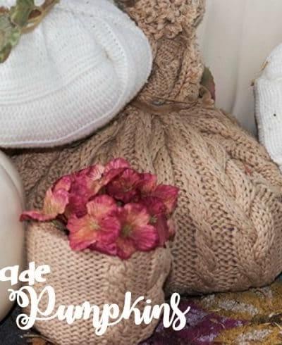 Handmade Sweater Pumpkins