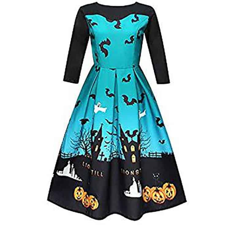 teal Halloween Dress